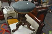 Sale 8328 - Lot 1070 - Victorian Carved Piano Stool