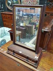 Sale 8559 - Lot 1035 - George III Mahogany Toilet Mirror, the mirror with gilt gesso slip & three drawers to base, H 65cm