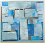 Sale 8677B - Lot 565 - Artist Unknown, Abstract in blue , oil on canvas 170 x 182cm