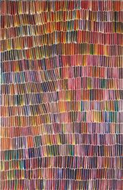 Sale 8875A - Lot 5017 - Jeannie Mills Pwerle (1965 - ) - Bush Yam 152 x 98 cm (stretched and ready to hang)