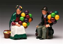 Sale 9110 - Lot 337 - Royal Doulton figures The Old Balloon Seller and The Balloon Man
