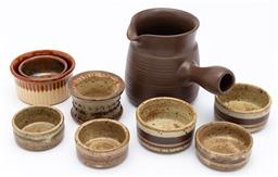Sale 9099 - Lot 214 - A small collection of studio pottery wares
