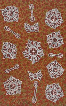 Sale 9188A - Lot 5054 - ROSEMARY PORTER NAMPITJINPA - My Grandmother's Country 151 x 95 cm (stretched and ready to hang)