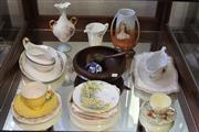 Sale 7982 - Lot 83 - Various China incl Royal Winton, Shelley, Doulton, etc and Vintage Timber Nut Bowl