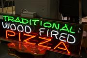 Sale 8087 - Lot 1057 - Neon Traditional Wood Fired Pizza Sign
