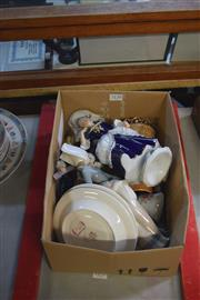 Sale 8189 - Lot 2138 - A Box of Sundries incl. Ceramic Figures & Spoons