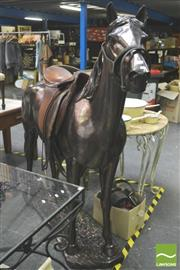 Sale 8302 - Lot 1015 - Bronze Style Horse (damage to front leg)