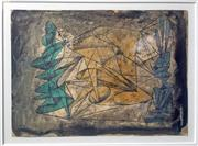 Sale 8297A - Lot 18 - Dora Chapman (1911 - 1965) - Abstract Composition II 18.5 x 26cm