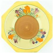 Sale 8332 - Lot 16 - Clarice Cliff Crocus Octagonal Dish
