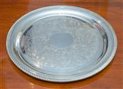 Sale 8341A - Lot 34 - A Hecworth silverplate circular tray in excellent condition, D 26cm