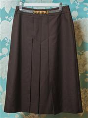 Sale 8420A - Lot 19 - A vintage French designer Celine Paris brown woollen skirt size 40 (S/M) fully lined in Celine logo lining, condition: very good, fe...