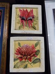 Sale 8441T - Lot 2073 - Pair of Ceramic Wall Plaques and a Retro Dish