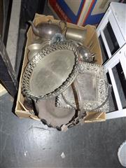 Sale 8478 - Lot 2254 - Box of Silver Plated Ware