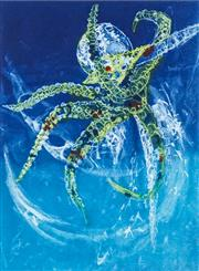 Sale 8552 - Lot 2024 - Frank Hodgkinson (1919 - 2001) - Octopus 60 x 45cm