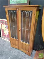 Sale 8550 - Lot 1137 - Leadlight Front Bookcase