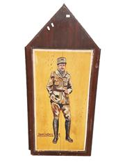 Sale 8809B - Lot 610 - Raoul Lufberry. American Fighter Pilot Ace. 17 Victories. Hand Painted Double Sided Wall Plaque. L.M 74 (126 x 57cm)