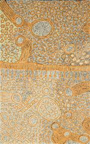 Sale 8870A - Lot 540 - Marlene Young Nungurrayi (1973 - ) - Minyma Tjukurrpa 154 x 95 cm (stretched and ready to hang)