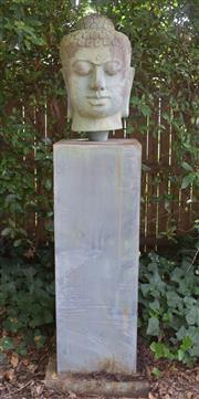 Sale 8950G - Lot 12 - Composite Buddha on plinth, 1.66m Height
