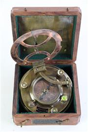 Sale 8985 - Lot 5 - A Reproduction Cased Sundial Compass Set