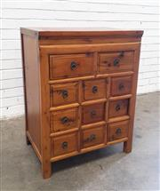 Sale 9085 - Lot 1070 - Chinese Cypress Chest of 11 Drawers, with ring handles (h:85 x w:65 x d:45cm)