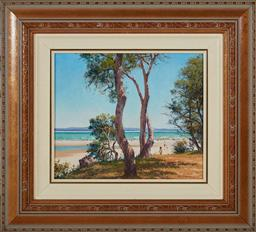 Sale 9097H - Lot 91 - Les Graham - Summer at Laggers Point signed lower right