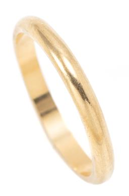 Sale 9164J - Lot 315 - AN 18CT GOLD RING; 2.5mm wide band, size P, wt. 2.89g.