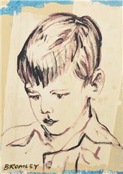 Sale 8257A - Lot 62 - David Bromley (1960 - ) - Boy Portrait 71 x 51cm