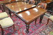 Sale 8255 - Lot 1039 - Victorian Mahogany Extension Dining Table, with single leaf, on turned & carved legs