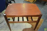 Sale 8275 - Lot 1055 - Teak Tiered Side Table