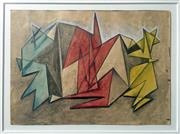 Sale 8297A - Lot 19 - Dora Chapman (1911 - 1965) - Abstract Composition III 18.5 x 26cm