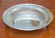 Sale 8341A - Lot 33 - An Art Deco Stokes silverplate pierced bowl, D 22cm