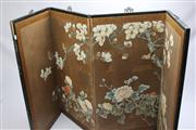 Sale 8677 - Lot 98 - Chinese Four Panel Screen with Birds Amongst Branches