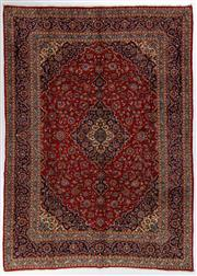 Sale 8760C - Lot 19 - A Persian Kashan From Isfahan Region 100% Wool Pile On Cotton Foundation, 397 x 286cm