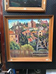Sale 8754 - Lot 2003 - Artist Unknown - Urban Scene, oil painting, 54 x 54cm (frame) -