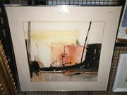 Sale 8771 - Lot 2067 - Susan Sheridan - Urban Landsape watercolour, 61 x 67cm (frame) signed lower right -