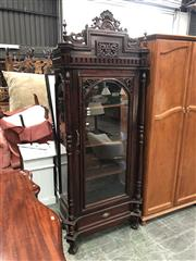 Sale 8893 - Lot 1009 - Mahogany Glass Front Display Cabinet