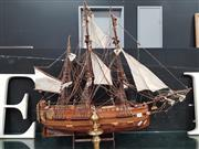 Sale 8904 - Lot 1008 - Model Ship on Stand