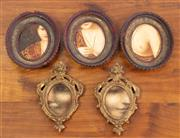 Sale 9044H - Lot 7 - A small quantity of gilt timber miniature frames various sizes. Made in Venice, Italy