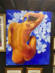 Sale 9061 - Lot 2049 - C. Gonquieres, Seated Nude, acrylic on canvas, 110 x 137 cm, signed lower right