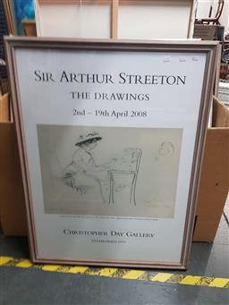 Sale 9176 - Lot 2142 - A framed Arthur Street Drawing Christopher Day 2008 exhibition poster -