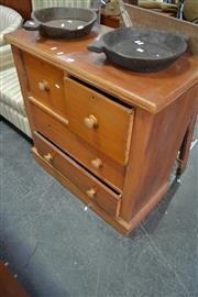 Sale 8013 - Lot 1038 - Timber Chest of 4 Drawers