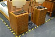 Sale 8046 - Lot 1017 - Pair Of Two Drawer Timber Filers
