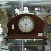 Sale 8236 - Lot 43 - French Timber Mantle Clock