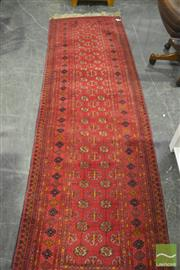 Sale 8307 - Lot 1084 - Red Tone Hall Runner (290 x 80)