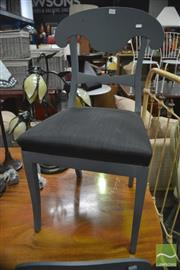 Sale 8404 - Lot 1093 - Set of Eight Painted Timber Dining Chairs
