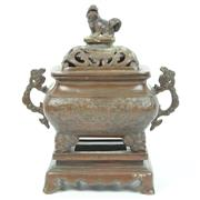 Sale 8412A - Lot 30 - Bronze Lided Censor on Stand height - 26cm
