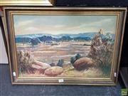 Sale 8587 - Lot 2082 - Edmund Spencer (1920 - 2014) - MacDonnell Ranges, oil on canvas board, 37 x 54cm, signed lower right