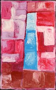 Sale 8743 - Lot 549 - Kudditji Kngwarreye (c1928 - 2017) - My Country 166 x 107cm (stretched and ready to hang)