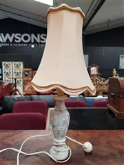 Sale 8680 - Lot 1047 - Marble Base Lamp (H:56cm)