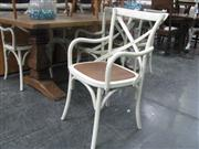 Sale 7943A - Lot 1524 - White Crossback Carver Chair x 6